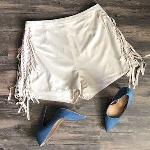 Suede tassel shorts 🤠